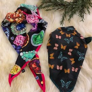 New ECHO silk scarf bundle two pieces jewels